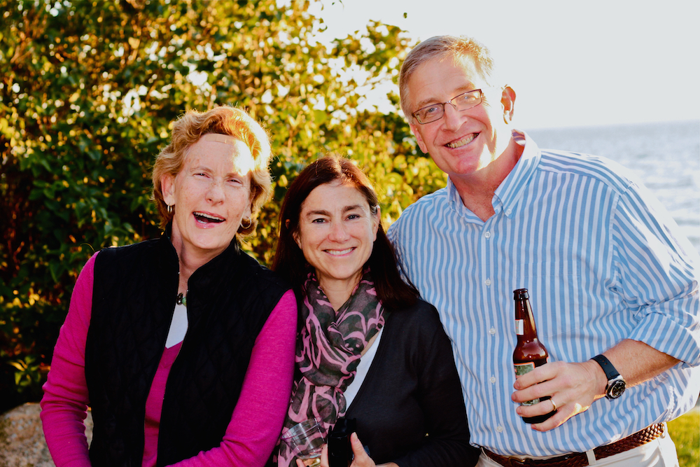 Socializing on the Dance Dune with Katherine Gregg and brother-in-law Cy Zaneski